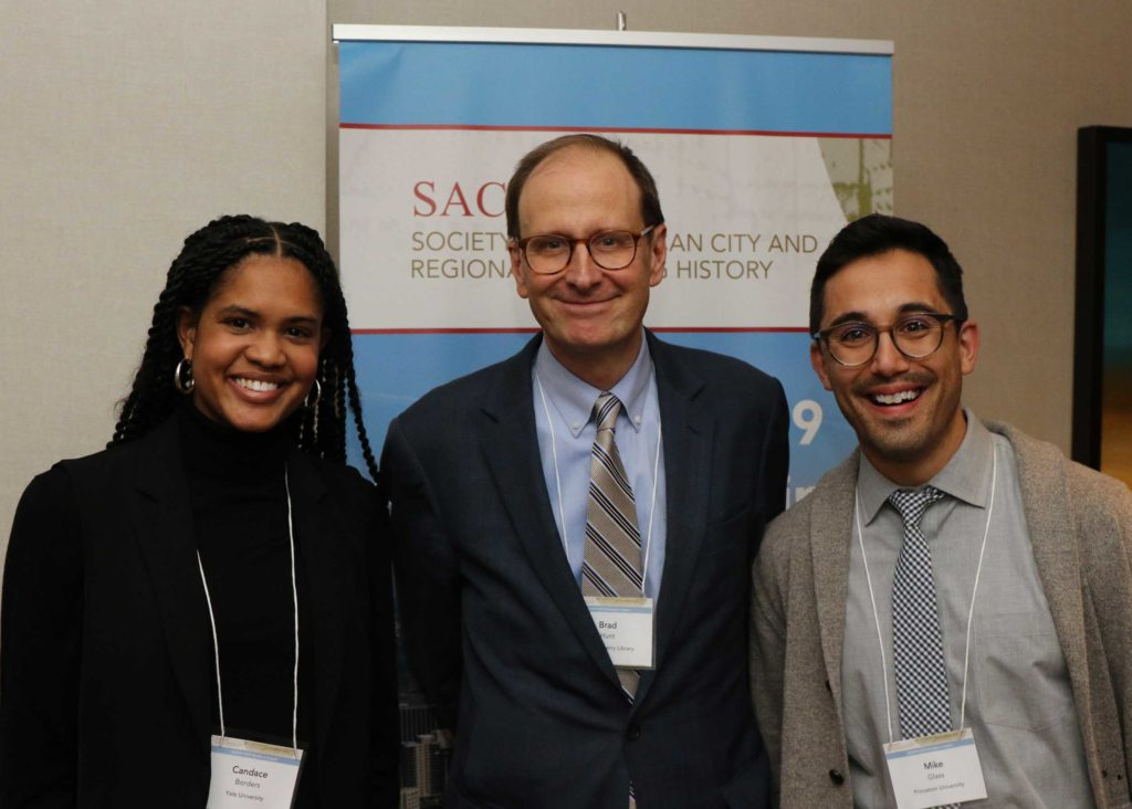Candace Borders, Yale University, and Mike Glass, Harvard University, 2019 Student Paper Prize Winners, with SACRPH President Brad Hunt